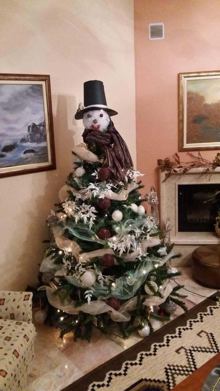 """Χριστουγεννιάτικο δέντρο χιονάνθρωπος καλές χαρούμενες γιορτές """"Καλλιόπη"""""""