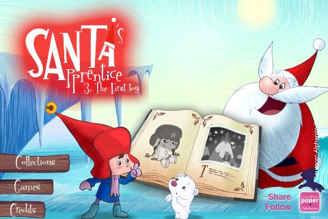 """Apprenti Pere Noel: available with text and narration in French and English.  I haven't tried this one yet, but I like """"Gaspard"""" from this same developer."""