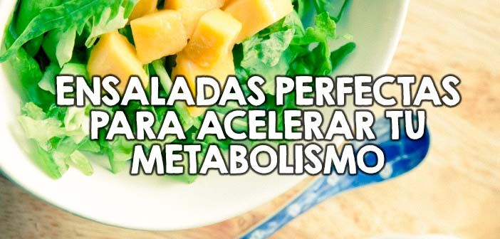 Ensaladas perfectas para acelerar tu metabolismo  http://nutricionysaludyg.com/gourmet/ensaladas-acelerar-metabolismo/