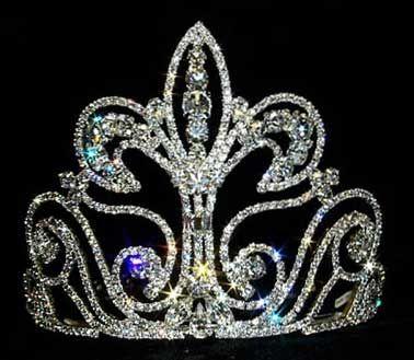 Large Fleur Di Lis Tiara Crown