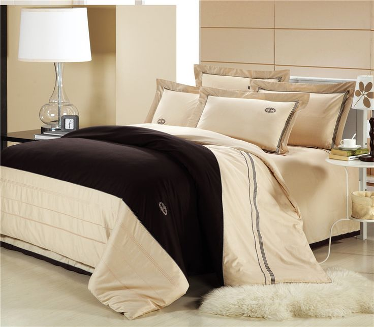 high quality embroidered bedding set solid bedding sheet 100 cotton bed set duvetquilt