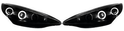Peugeot 207 2006-  #headlights / #headlamps #angel eyes black inner 1 pair,  View more on the LINK: http://www.zeppy.io/product/gb/2/191905979648/