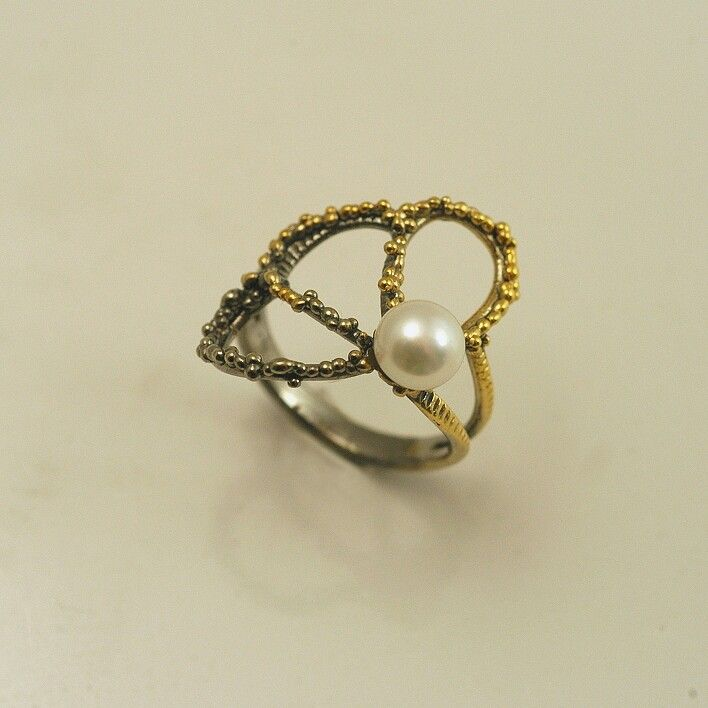 IOSIF JEWELRY RING GOLD SILVER PEARL