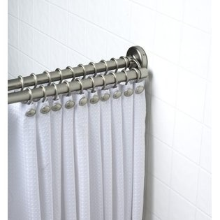 Zenith Products 36601BN01 Double Premium Shower Curtain Rod, Brushed Nickel