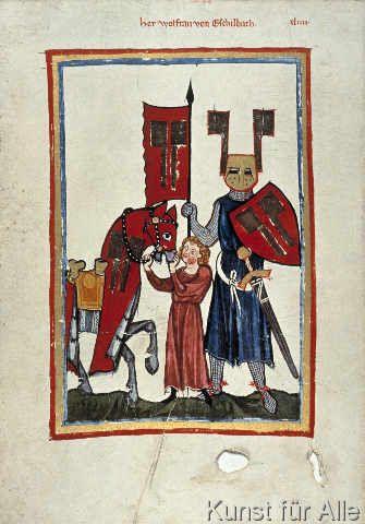 Zürich Buchmalerei - Wolfram von Eschenbach / Codex Manesse