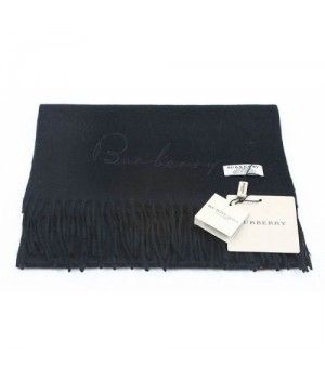 Burberry Monochrome Cashmere scarf Black