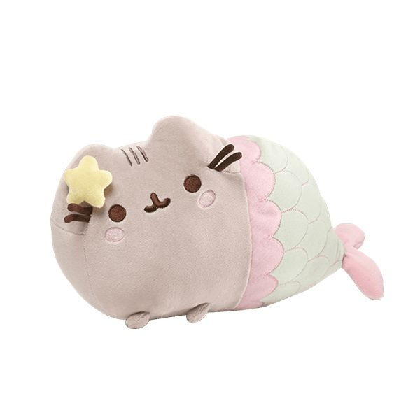 Pusheen loves to play dress up! Pusheen is looking extra cute and magical in her mermaid attire. Featuring a lovely green and pink tail finished with a starfish hairclip and blushing cheeks, this enticing mermaid will grab your attention!