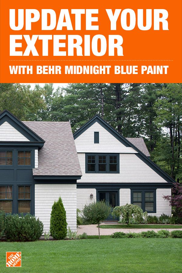 Behr Marquee 1 Gal N480 7 Midnight Blue Flat Exterior Paint And