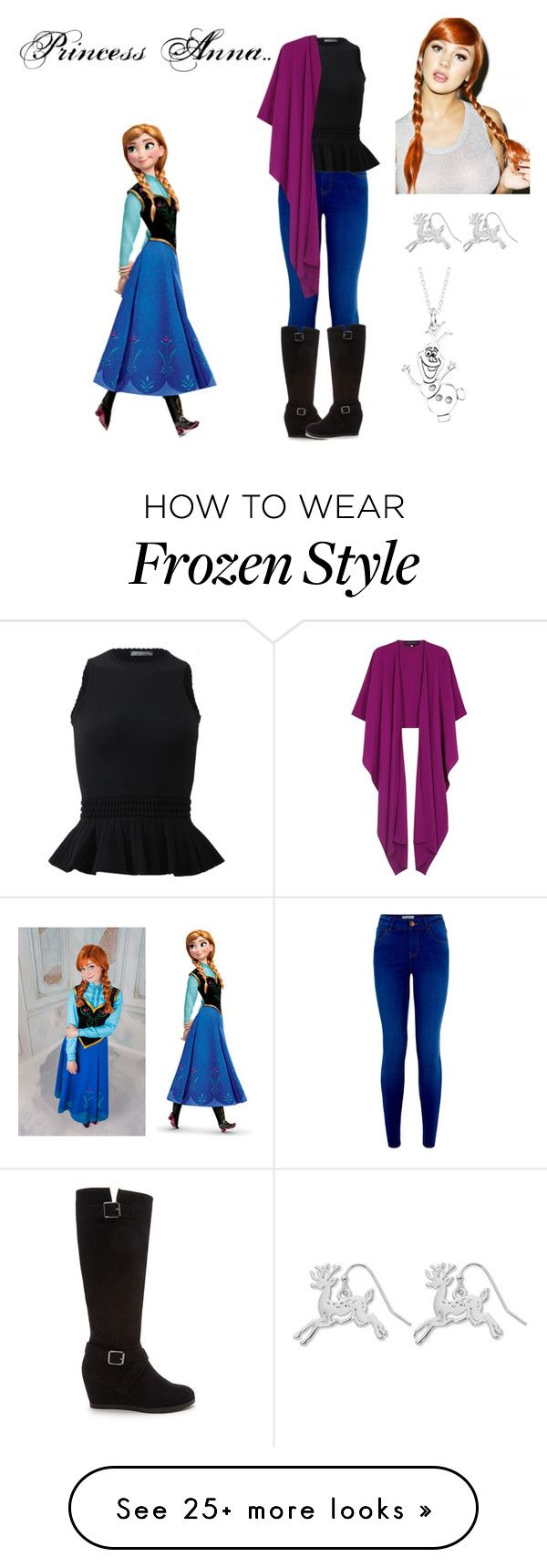"""Modern Day Disney's Anna Outfit"" by marydudich on Polyvore featuring Alexander McQueen, Talbot Runhof, Forever 21, Spree Picky, Kim Rogers, Disney and modern"