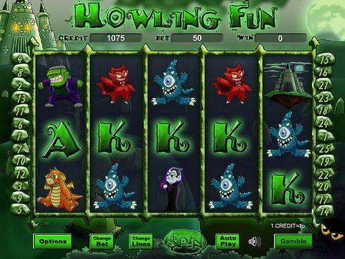 Play Howling Fun slots online at Moon Games