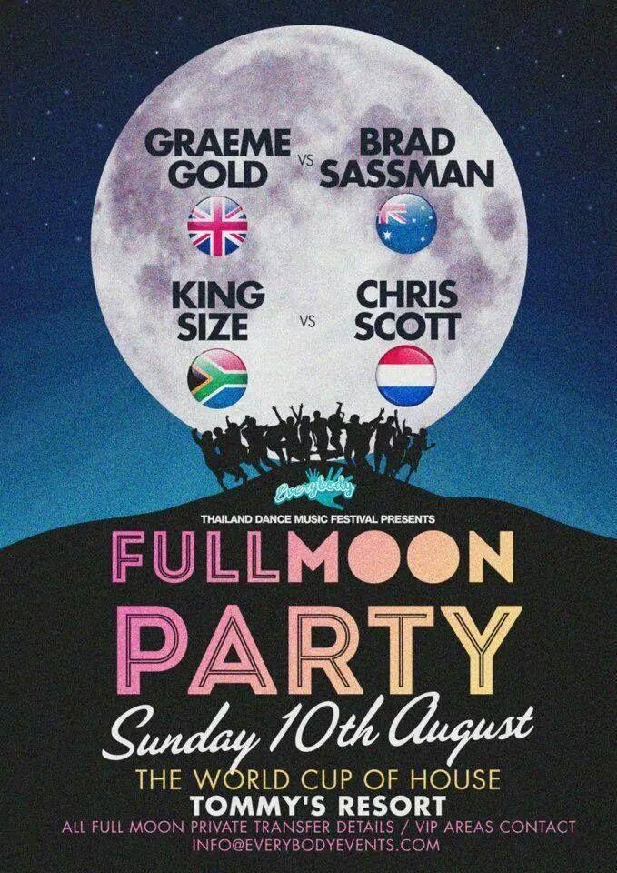 Full Moon Party, Ko Phangan, Thailand Tour - 10 Aug 2014 - https://www.facebook.com/KingsizeEntertainmentNow?fref=ts