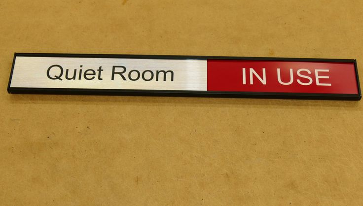 Room status signs made to order. Select style and size to suit, Enter room name and details. Layout sent prior to production