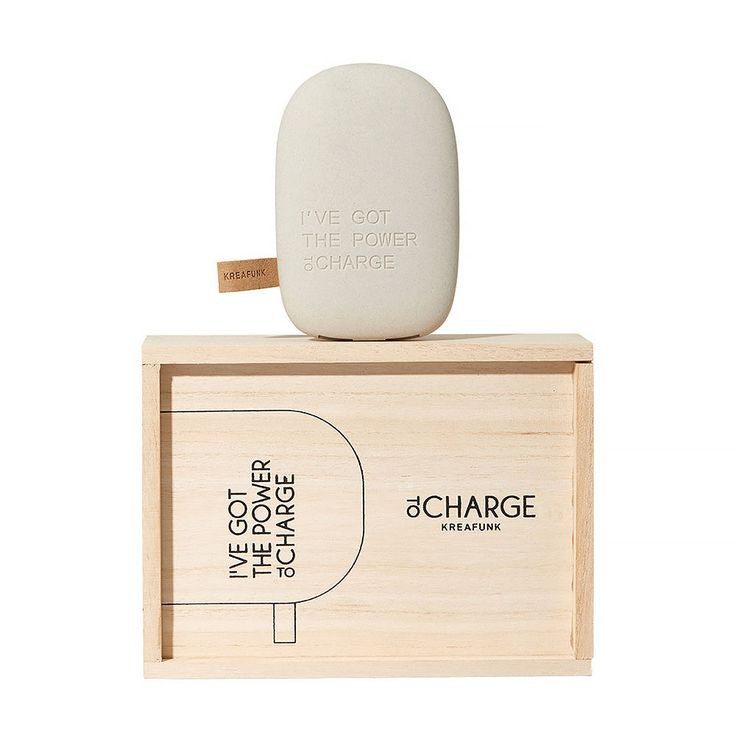 top3 by design - Kreafunk - tocharge portable pebble light grey