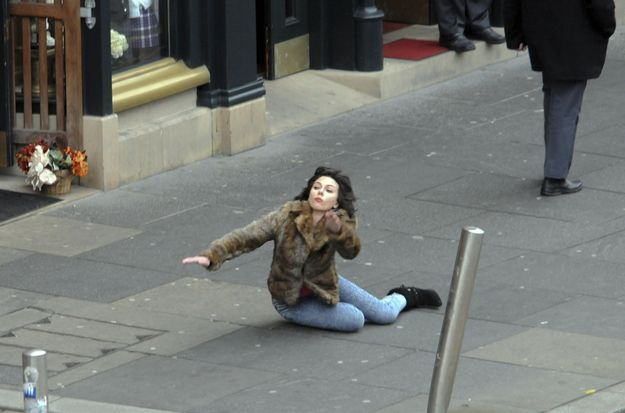 It all started with this glorious picture of Scarlett Johansson falling down in December 2012.