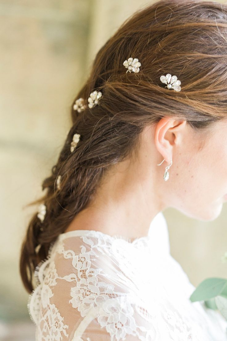 Feather coal hair accessories emily kent wedding hair bridal musings - Hermione Harbutt Nature Inspired Hair Vines And Delicate Bridal Headpieces