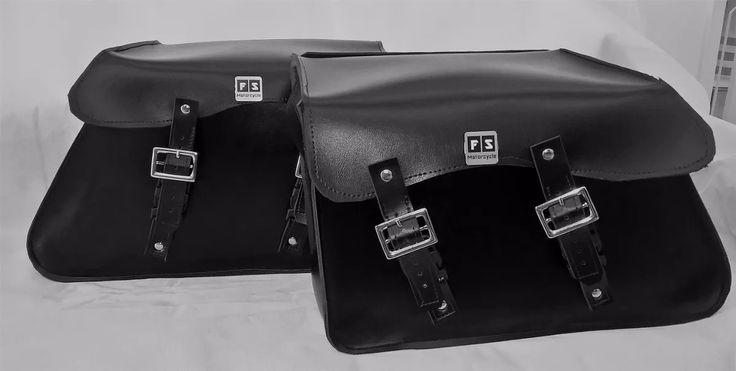 alforge lateral custom 40 lts couro preto (20 lts cada peça)