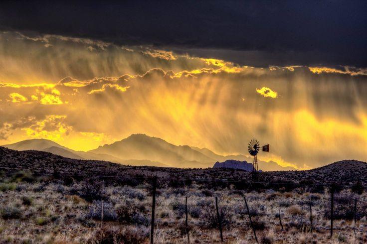 Karoo rains, South Africa #windpomp