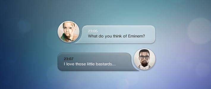Chat UI in formato PSD con speech bubbles