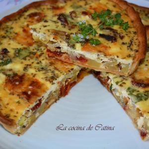 Receta de Pastel de calabacín y queso
