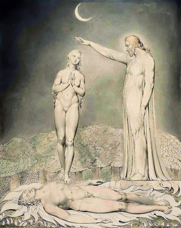 William Blake The Creation of Eve Royalty Free Art Images
