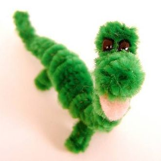 Pipe-Cleaner Dinosaur Craft - Pipe cleaner - Felt - Safety Eyes/Googily Eyes