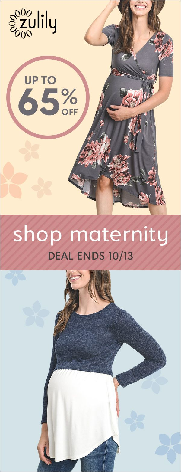Sign up to shop maternity essentials, up to 65% off. From comfy maternity clothes, to nursing apparel, and baby gear, stock up on these new mom essentials and get ready to greet that darling bundle of joy. Deal ends 10/13.