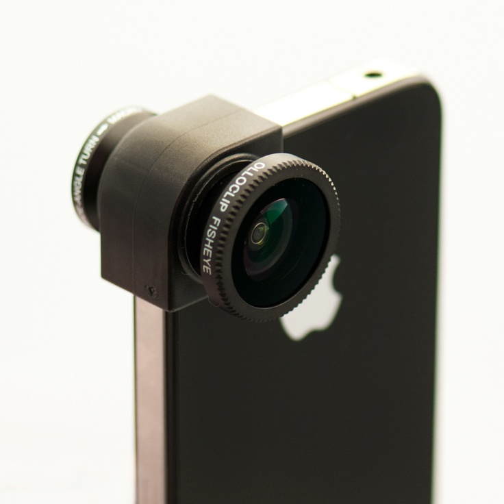 Clickin Moms Olloclip A quick-connect lens solution for the iPhone 4/4S that includes fisheye, wide-angle and macro lenses. $70