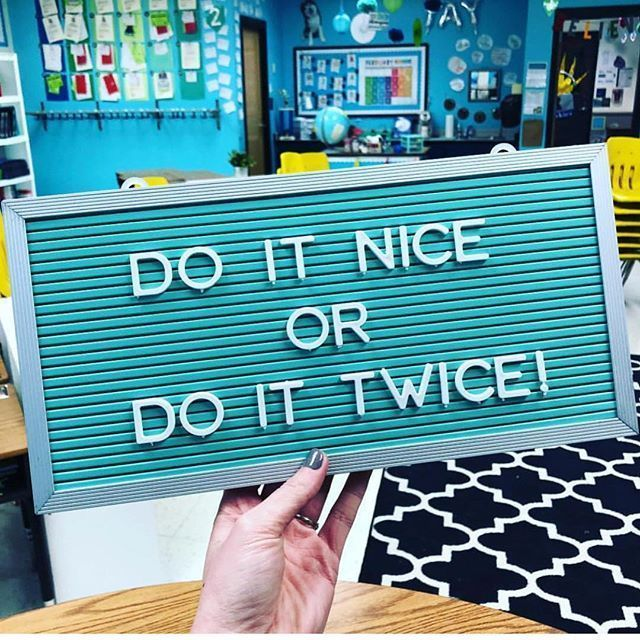 letter board sign for the classroom