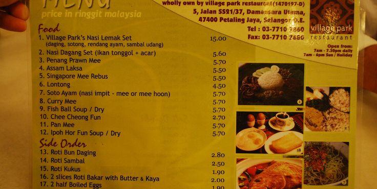 Comida na Malásia