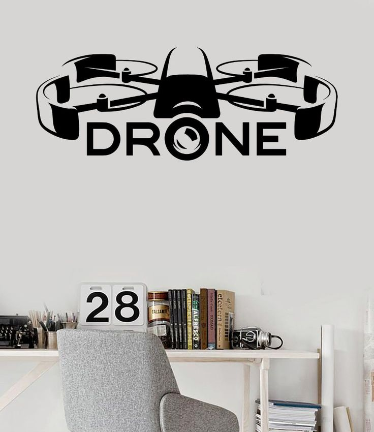 ==> [Free Shipping] Buy Best Vinyl Wall Decal Drone Racing UAV Newest Technologies Stickers Online with LOWEST Price | 32788366498
