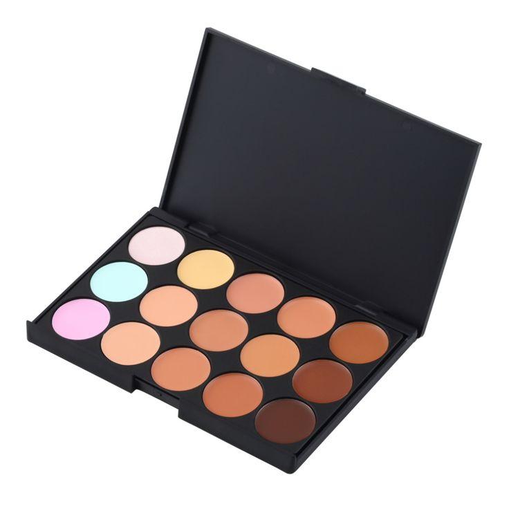15 Colori Professionale Delle Signore Delle Donne di Trucco Viso Concealer Camouflage Cream Palette Viso Cosmetici Strumenti di Trucco Full Size