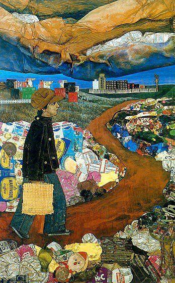Juanito Laguna va a la fábrica (1977), de Antonio Berni