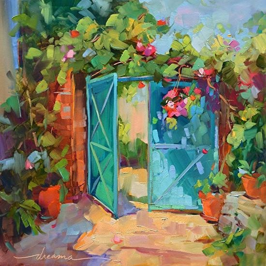 """""""French Beginnings"""" by Dreama Tolle Perry Oil ~ 12 x 12"""