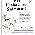 Bee Kindergarten Sight Words