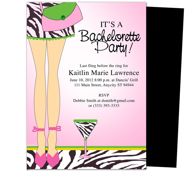 Bachelorette Party Invitation Template – Party Invitation Samples