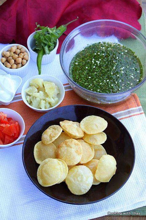 Panipuri or Golgappa Recipe- Popular Indian Street Food   Cooking with Thas