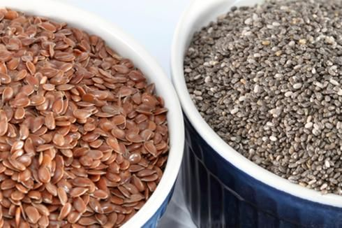 Graines de lin et graines de chia