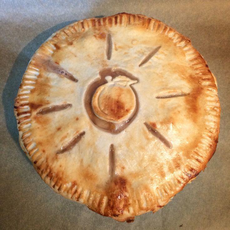 Pear nectarine pie