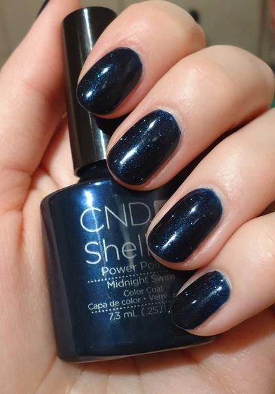 """Have the girls add some glitter to """"midnight swim"""" and float away with these cute fingers."""