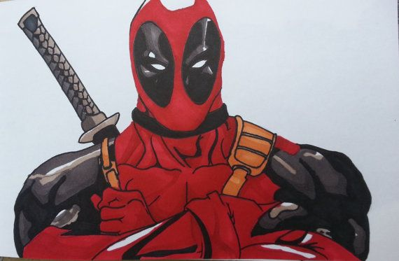 Help me celebrate my birthday! Use the coupon 'HIPHIPHOORAY' in the checkout to get 20% off all items!  https://www.etsy.com/au/listing/247146259/deadpool-comic-print-or-original