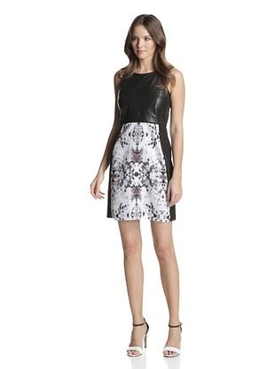 87% OFF San & Soni Women's Jamie Impression Print Dress (Multi)