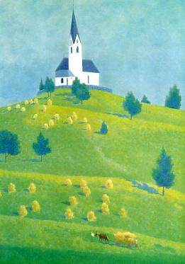 東山魁夷 丘の教会 1971年