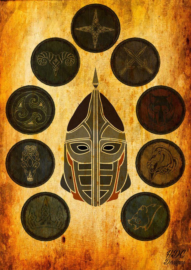 TES art,The Elder Scrolls,фэндомы,Skyrim,gengaa