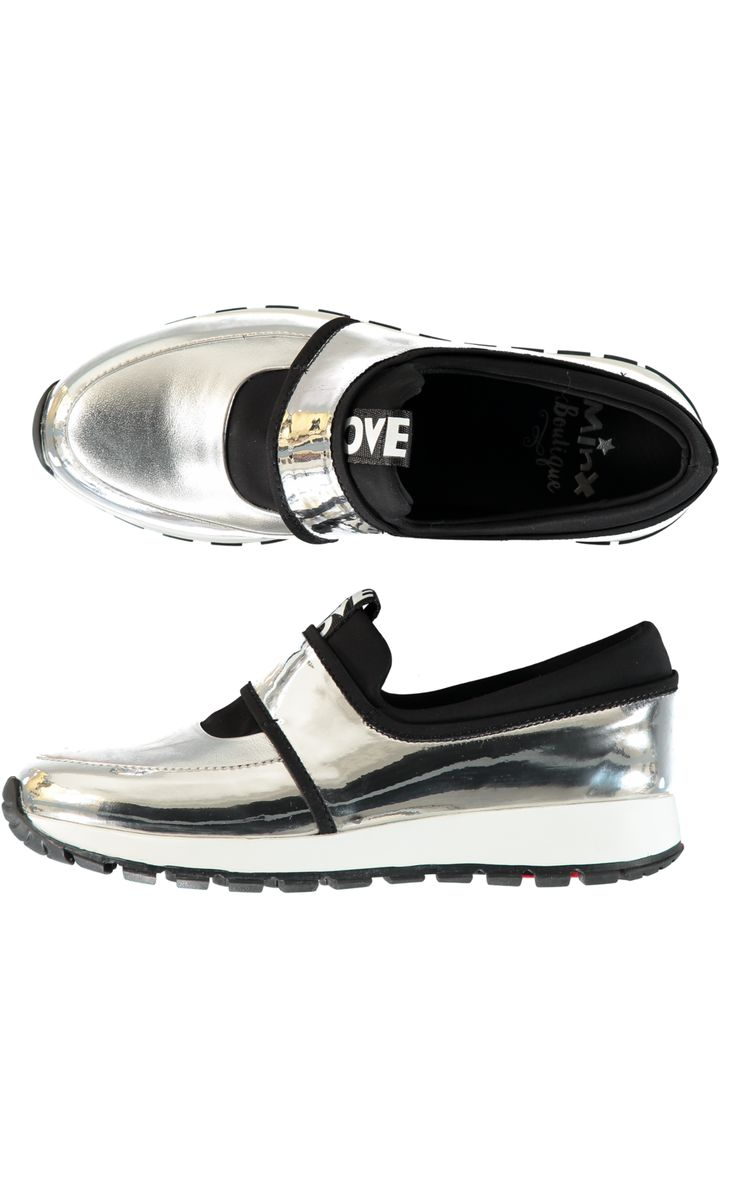 Love Run Sneaker - Silver/Black