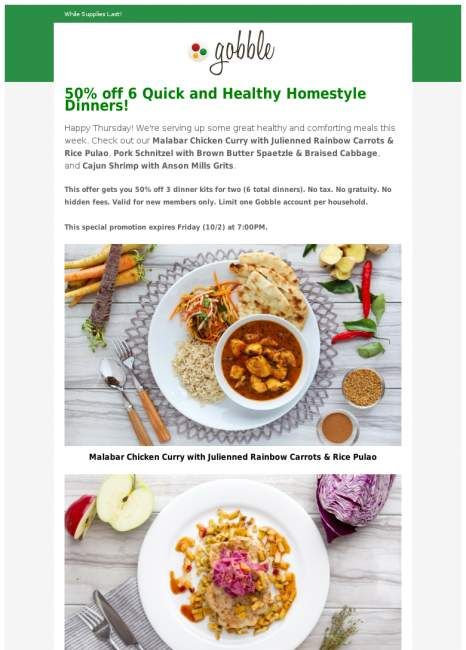 40 best meal meal kit home delivery service images on pinterest half off gobble dinners this week only deliverykitmealfoodmeals forumfinder Images
