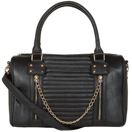 QUILTED CHAIN DETAIL BAG