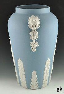 Excellent Ecanada Art Pottery Vase Powder Blue
