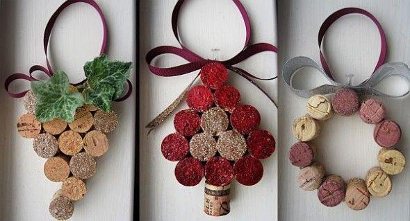 cork ornaments/decorationsIdeas, Christmas Decorations, Corks Ornaments, Wine Corks Crafts, Wine Bottle, Cork Crafts, Diy Christmas Decor, Christmas Ornaments, Diy Christmas Crafts
