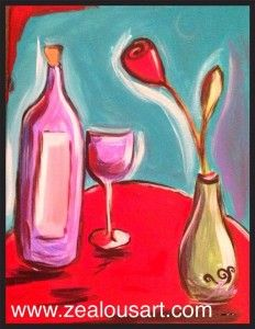 ZealousArt and painting pARTies  June 15, 2014 at NY Grill and Bistro **Painting pARTy painting this fun painting - Wine Time!!  #langleybc #fortlangley #langley #britishcolumbia