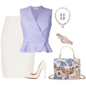 when wearing a pencil skirt, add peplum top to minimize hips